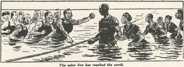 race riot cartoon the color line