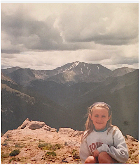 The author, overlooking Rocky Mountain National Park. Date unknown.
