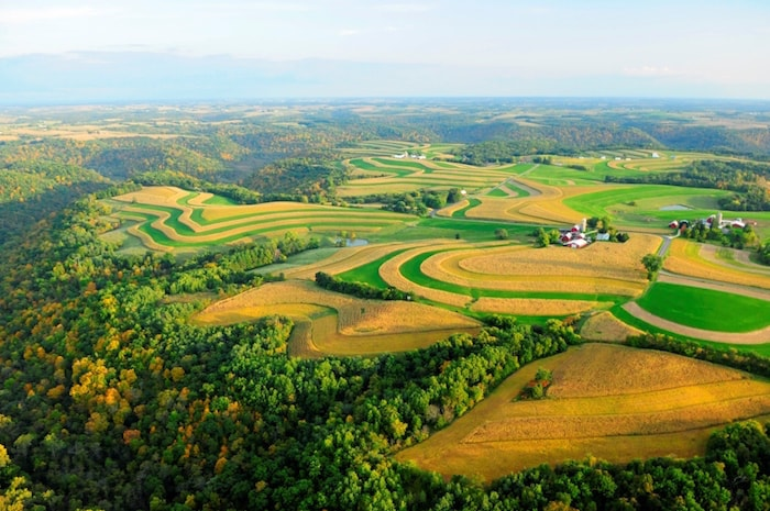 Contour farming in Wisconsin's Driftless Area