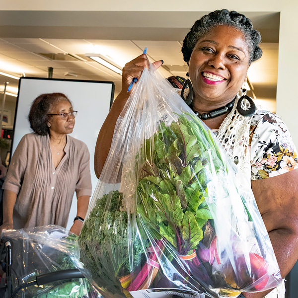 Windy City Harvest's VeggieRx Program helps with food access.