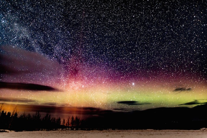 Northern Lights with Milky Way