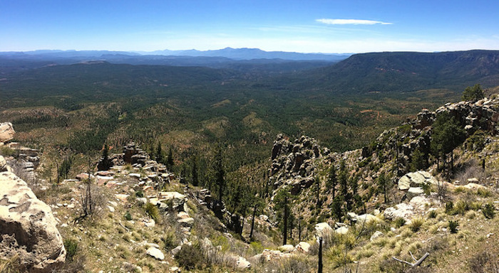 The view from the top of the Mogollon Rim