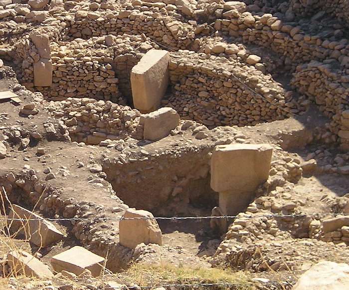 Archaeological remains of the Gobekli Tepe