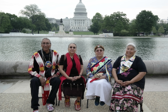 Indigenous Women Leaders and Chief Arvol Looking Horse in Washington DC