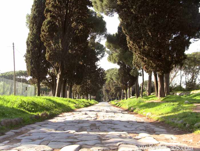 A portion of the Ancient Appian Way