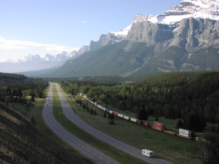 The TransCanada and the Canadian Pacific Railroad in the Bow River Valley