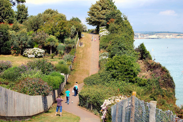 A pathway on the Isle of Wight