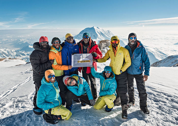 A photo of the Expedition Denali group near the summit of Mt. McKinley
