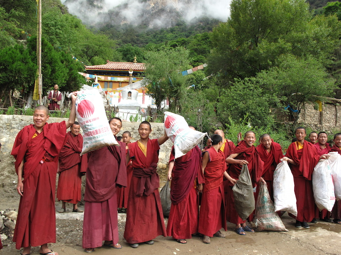 Muli Monastery water cleanup